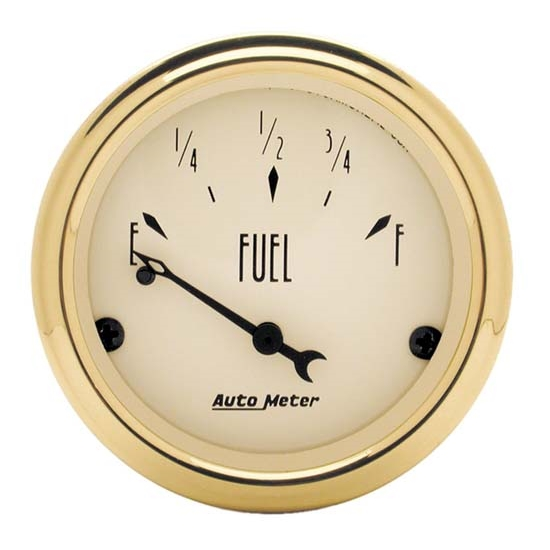 Auto Meter 1504 Golden Oldies Air-Core Fuel Level Gauge, 2-1/16 Inch
