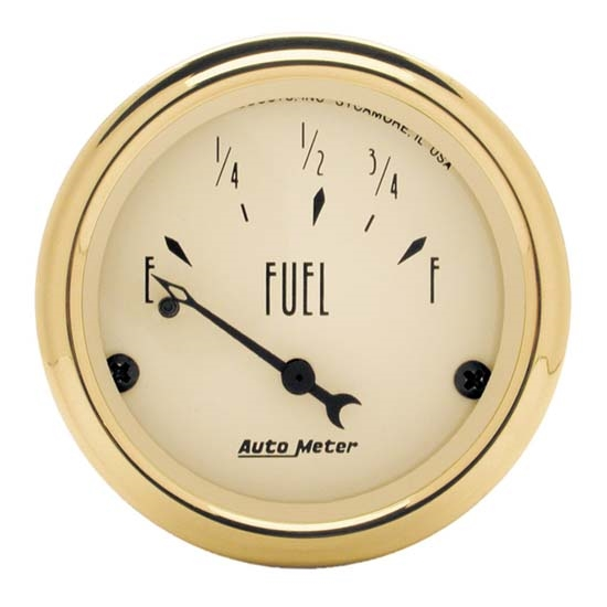 Auto Meter 1505 Golden Oldies Air-Core Fuel Level Gauge, 2-1/16 Inch