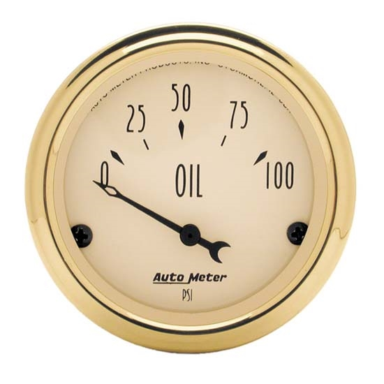 Auto Meter 1528 Golden Oldies Air-Core Oil Pressure Gauge, 2-1/16 Inch