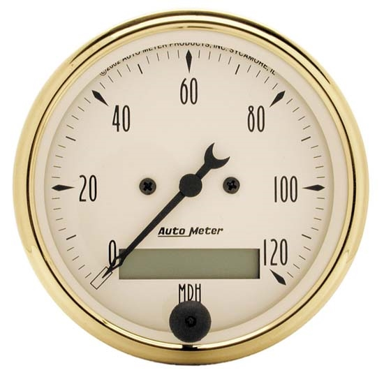 Auto Meter 1588 Golden Oldies Air-Core Speedometer Gauge, 3-1/8 Inch
