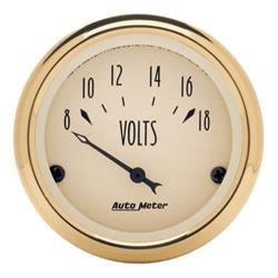 Auto Meter 1592 Golden Oldies Air-Core Voltmeter Gauge, 2-1/16 Inch