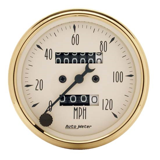 Auto Meter 1593 Golden Oldies Mechanical Speedometer Gauge