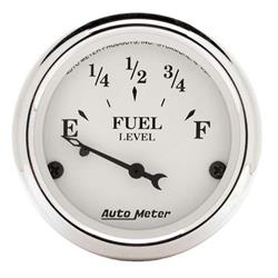 Auto Meter 1605 Old-Tyme White Air-Core Fuel Level Gauge, 2-1/16 Inch