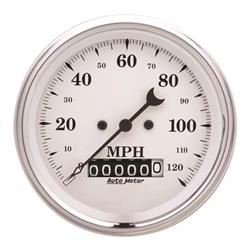 AutoMeter 1679 Old-Tyme White Air-Core Speedometer, 3-3/8 Inch