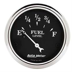 Auto Meter 1716 Old Tyme Black Air-Core Fuel Level Gauge, 2-1/16 Inch