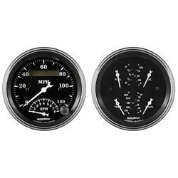 "Auto Meter 1720 Old Tyme Black, 3-3/8"" Quad & Tachometer/Speedometer"