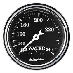 "AutoMeter 1733 Old Tyme Black,2-1/16"" Water Temp.,Mechanical"