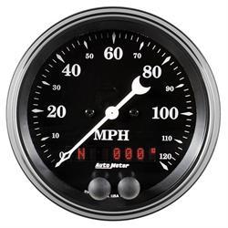 "Auto Meter 1749 Old Tyme Black, 3-3/8"" GPS Speedometer"