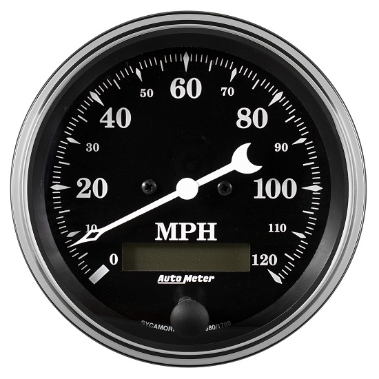 "Auto Meter 1780 Old Tyme Black, 3-3/8"" Speedometer, Electric"
