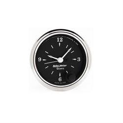 Auto Meter 1785 Old Tyme Black Quartz Clock Gauge, 2-1/16 Inch