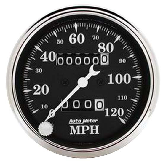 Auto Meter 1796 Old Tyme Black Mechanical Speedometer, 3-1/8 Inch