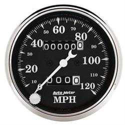AutoMeter 1796 Old Tyme Black Mechanical Speedometer, 3-1/8 Inch