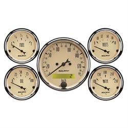 Auto Meter 1809-M Antique Beige 5 Piece Gauge Kit
