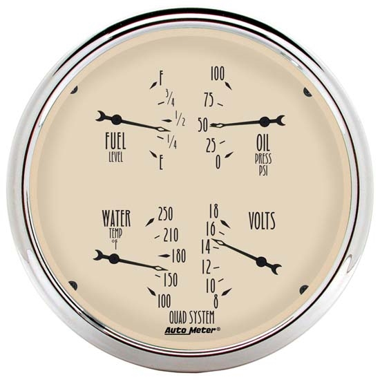 Auto Meter 1810 Antique Beige Air-Core Quad Gauge
