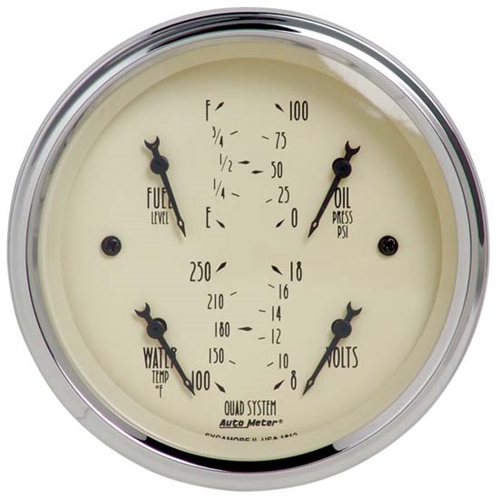 Auto Meter 1812 Antique Beige Air-Core Quad Gauge