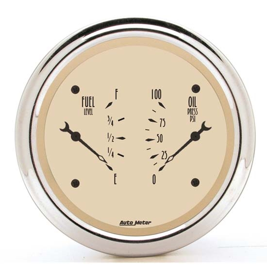 Auto Meter 1813 Antique Beige Air-Core Dual Gauge