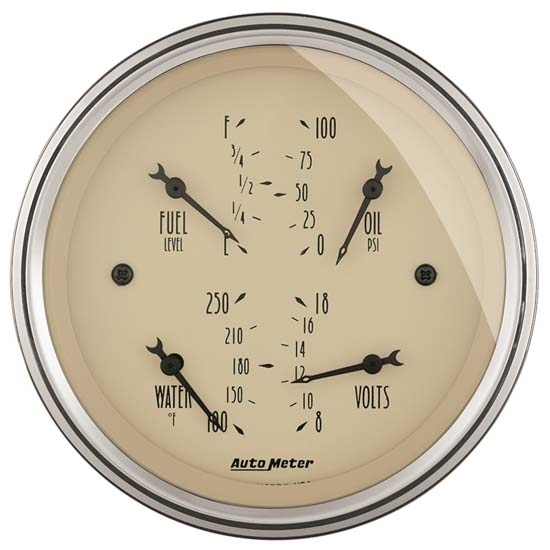 Auto Meter 1814 Antique Beige Air-Core Quad Gauge
