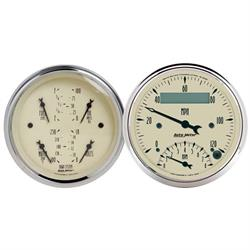 Auto Meter 1820 Antique Beige Air-Core 2 Piece Gauge Kit