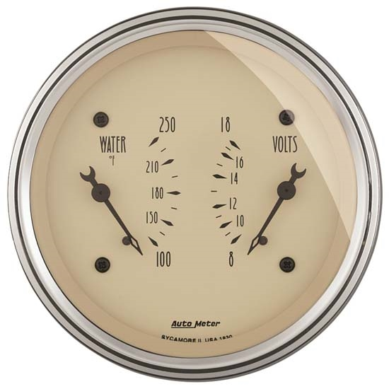 Auto Meter 1830 Antique Beige Air-Core Dual Gauge