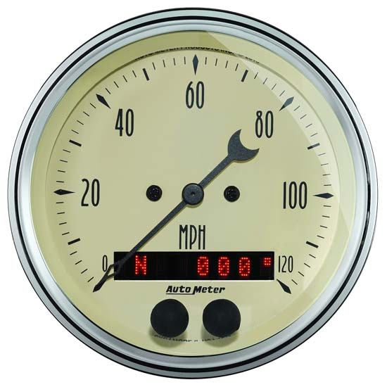 Auto Meter 1849 Antique Beige Air-Core GPS Speedometer Gauge