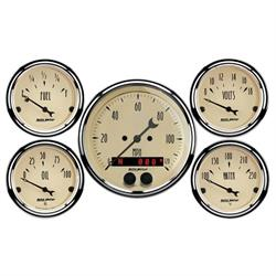 Auto Meter 1850 Antique Beige 5 Piece GPS Gauge Kit