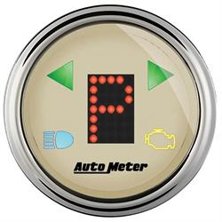 Auto Meter 1860 Antique Beige Digital PRNDL Gauge