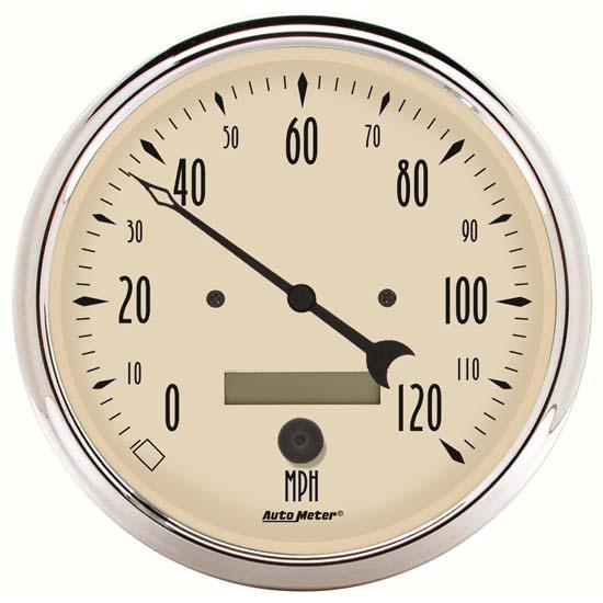 auto meter 1889 antique beige air speedometer
