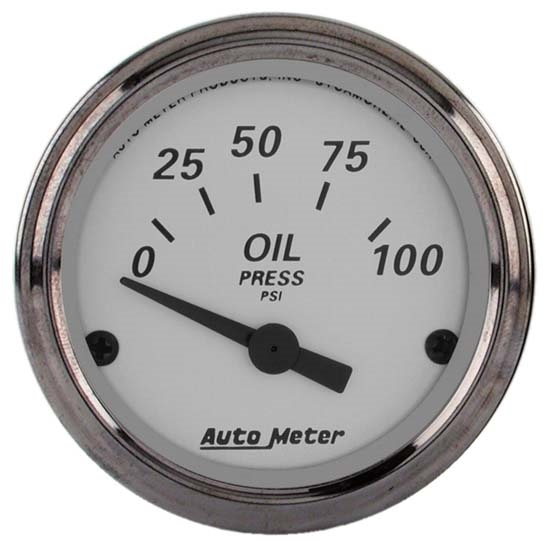Auto Meter 1928 American Platinum Air-Core Oil Pressure Gauge
