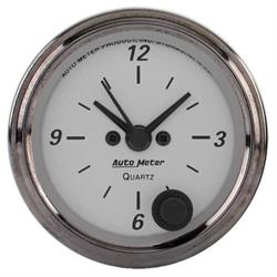 Auto Meter 1986 American Platinum Quartz Clock Gauge