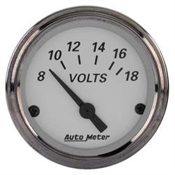 Auto Meter 1992 American Platinum Air-Core Voltmeter Gauge