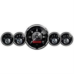 Auto Meter 2001 Prestige Black Diamond 5 Piece Gauge Set