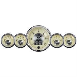 Auto Meter 2002 Prestige Antique Ivory 5 Piece Gauge Kit