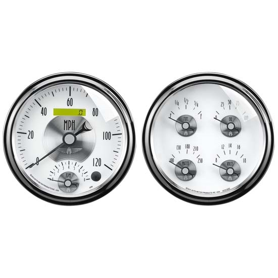 Auto Meter 2008 Prestige Pearl Air-Core 2 Piece Gauge Set