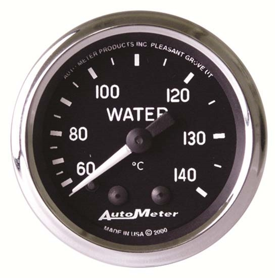 Auto Meter 201007 Cobra Mechanical Water Temperature Gauge, 2-1/16 In.