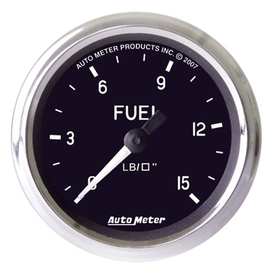 Auto Meter 201010 Cobra Mechanical Fuel Pressure Gauge, 2-5/8 Inch