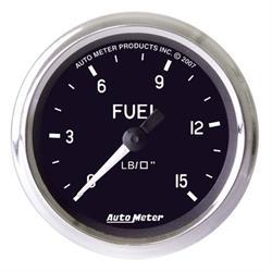 Auto Meter 201010 Cobra Mechanical Fuel Pressure Gauge, 2-5/8 Inch