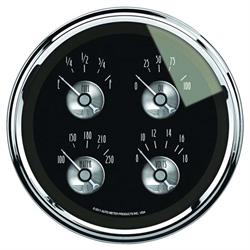 Auto Meter 2011 Prestige Black Diamond Air-Core Quad Gauge, 5 Inch