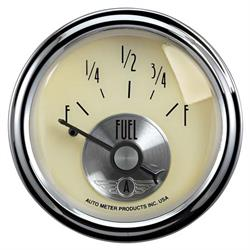 AutoMeter 2013 Prestige Antique Ivory Air-Core Fuel Level Gauge