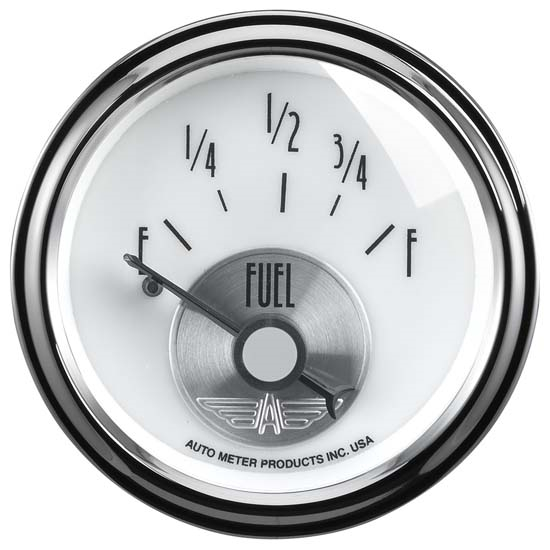 Auto Meter 2015 Prestige Pearl Air-Core Fuel Level Gauge, 2-1/16 Inch