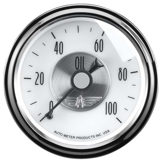 Auto Meter 2023 Prestige Pearl Mechanical Oil Pressure Gauge