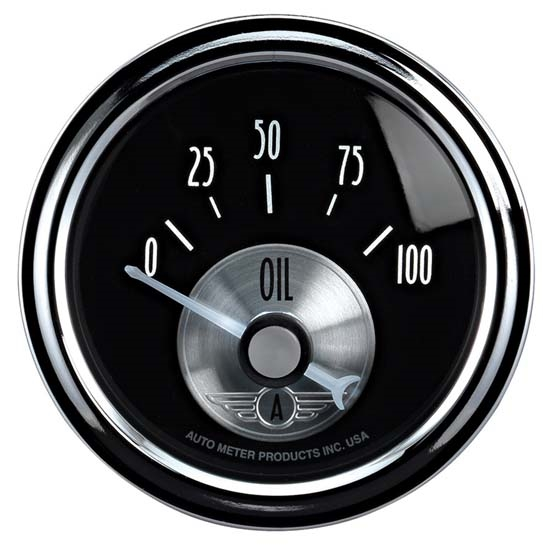 AutoMeter 2028 Prestige Black Diamond Air-Core Oil Press  Gauge