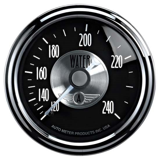 Auto Meter 2033 Prestige Black Diamond Air-Core Water Temp Gauge