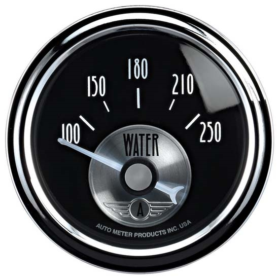 Auto Meter 2038 Prestige Black Diamond Air-Core Water Temp Gauge