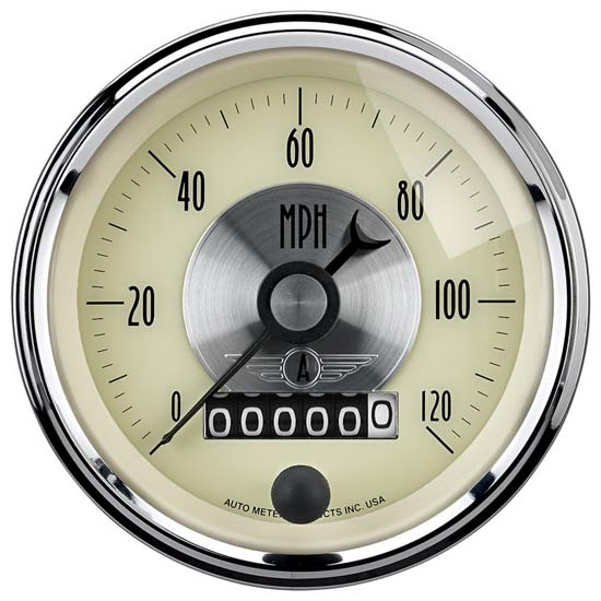 Auto Meter 2089 Prestige Antique Ivory Air-Core Speedometer, 3-3/8 In.