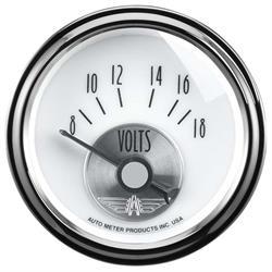 Auto Meter 2094 Prestige Pearl Air-Core Voltmeter Gauge, 2-1/16 Inch
