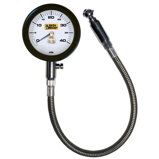 AutoMeter 2162 Mechanical Tire Press. Gauge, 40 PSI