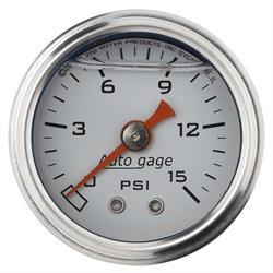 Auto Meter 2175 Auto Gage Mechanical Pressure Gauge, 1-1/2 Inch, 0-15