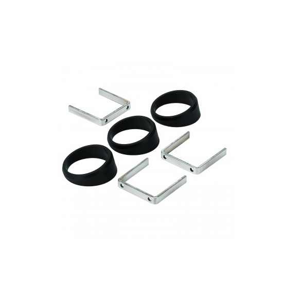AutoMeter 2234 Angle Rings, 3 Pcs Black, For 2-1/16 Inch