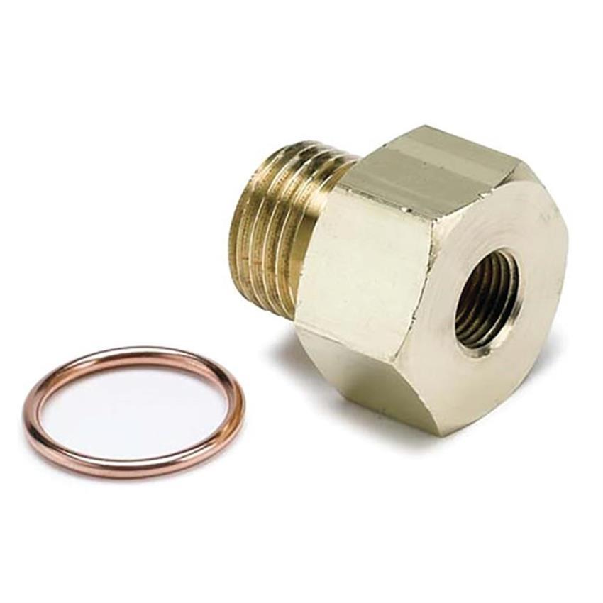 Auto Meter 2277 Temperature Sender Adapter Fitting, 1/8 NPT-M12x1.5