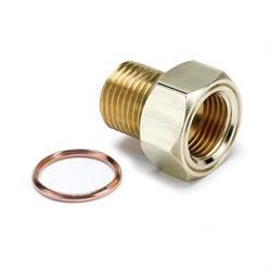 Auto Meter 2275 Temperature Sender Adapter Fitting, Brass, M16x1.5
